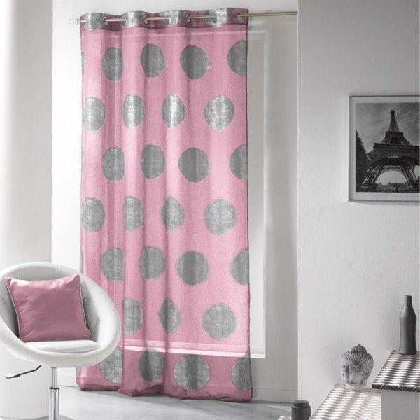 voilage rose rideau et voilage eminza. Black Bedroom Furniture Sets. Home Design Ideas