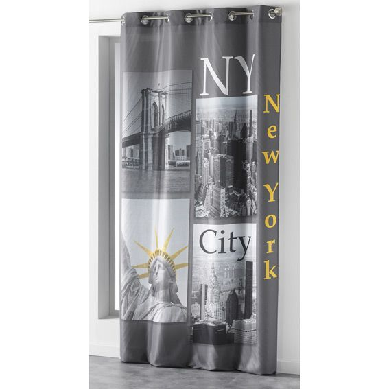 Rideau (140 x H260 cm) NY Yellow Anthracite
