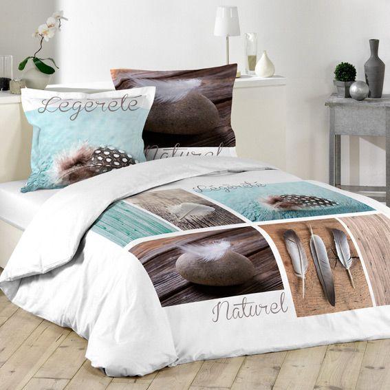 housse de couette et deux taies 260 cm plume l g re. Black Bedroom Furniture Sets. Home Design Ideas