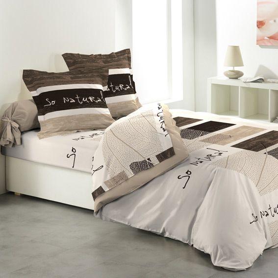 linge de lit marron eminza. Black Bedroom Furniture Sets. Home Design Ideas