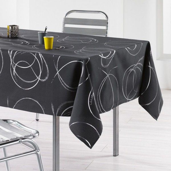 Nappe rectangulaire (L240 cm) Bully Anthracite
