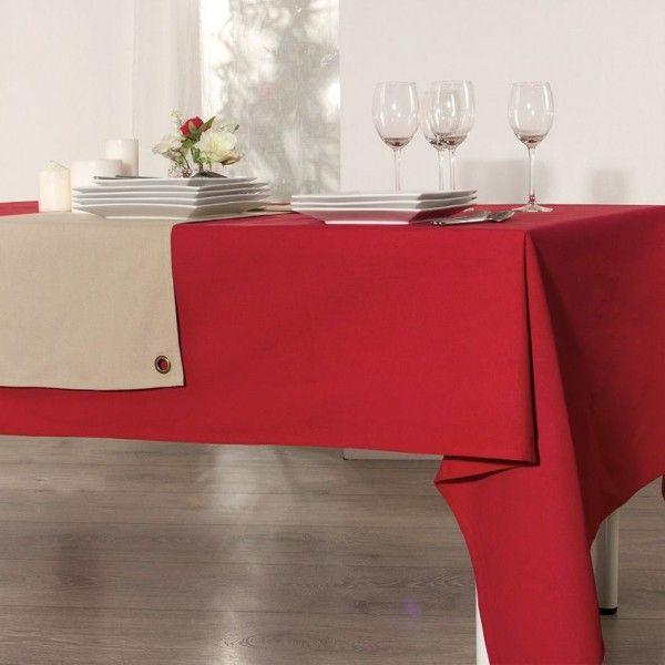 nappe de table rouge linge de table eminza. Black Bedroom Furniture Sets. Home Design Ideas