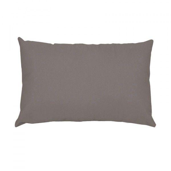 taie d 39 oreiller rectangulaire confort taupe taie d 39 oreiller traversin eminza. Black Bedroom Furniture Sets. Home Design Ideas