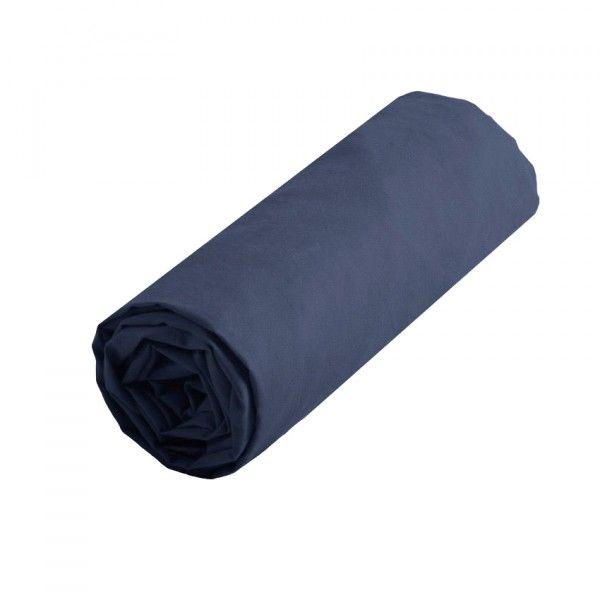 drap housse coton sup rieur 90 cm confort bleu drap housse eminza. Black Bedroom Furniture Sets. Home Design Ideas