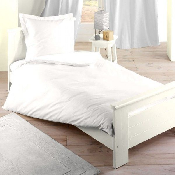 housse de couette 140 cm confort blanc housse de. Black Bedroom Furniture Sets. Home Design Ideas