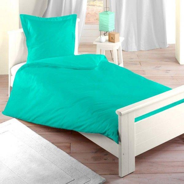 housse de couette 140 cm confort turquoise housse de. Black Bedroom Furniture Sets. Home Design Ideas