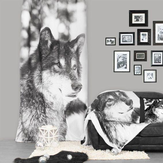 Rideau (140 x H240 cm) Loup sauvage