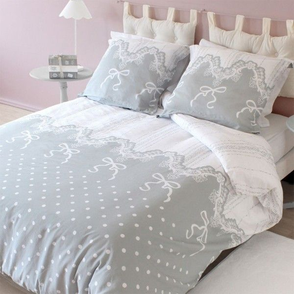 Housse de couette style campagne chic eminza - Housse de couette style ...