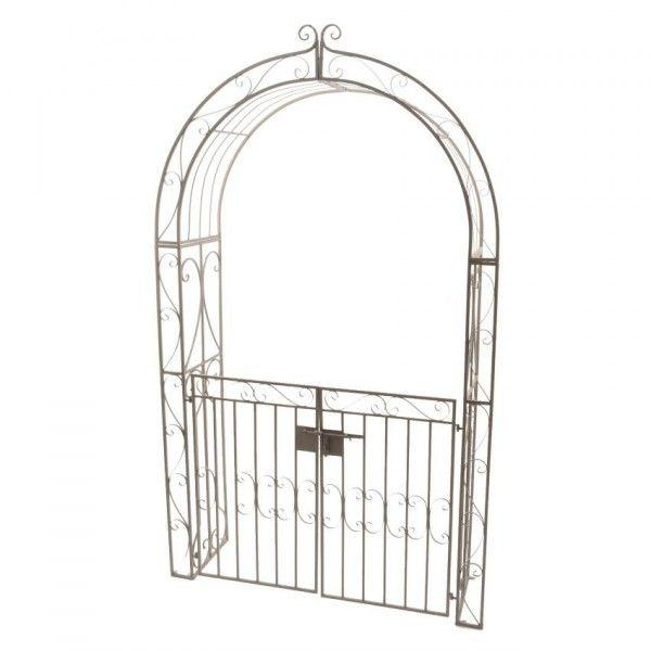 arche de jardin lina style fer forg brun blanchi am nagement d 39 ext rieur eminza. Black Bedroom Furniture Sets. Home Design Ideas