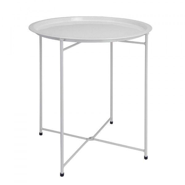 table d 39 appoint pliante aguza blanc meuble d 39 appoint. Black Bedroom Furniture Sets. Home Design Ideas