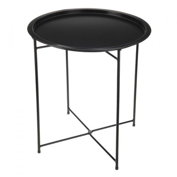 Table d'appoint pliante Aguza - Noir