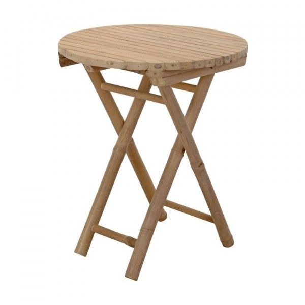 Table d'appoint pliante Bambou ronde
