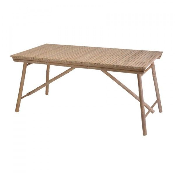 Table rectangulaire (160 x 78 cm) Bambou