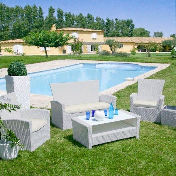 salon de jardin ibiza ecru perle 4 places salon de jardin eminza. Black Bedroom Furniture Sets. Home Design Ideas