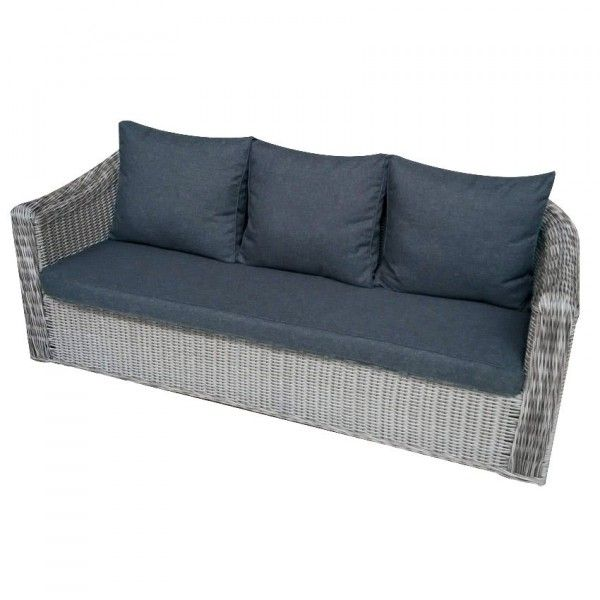 canap de jardin 3 places giglio gris gris anthracite. Black Bedroom Furniture Sets. Home Design Ideas