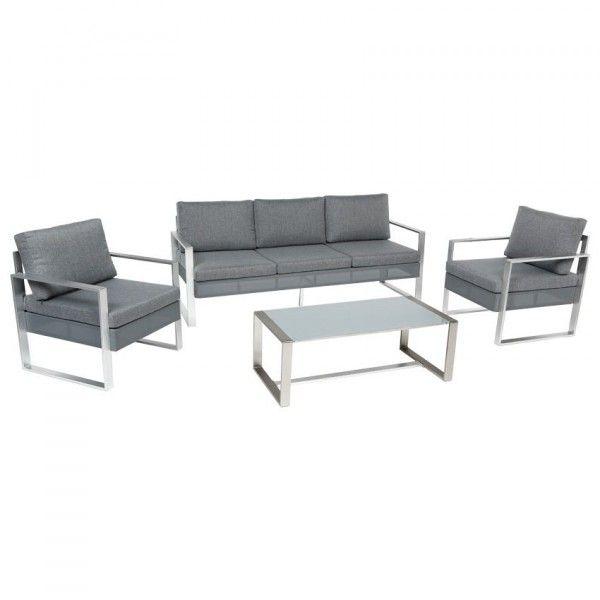 salon de jardin sesimbra ardoise 5 places salon de jardin table et chaise eminza. Black Bedroom Furniture Sets. Home Design Ideas