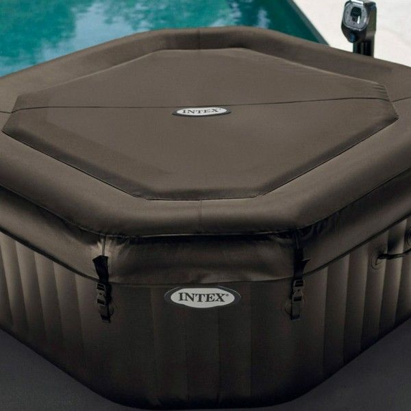 spa jets et bulles 6 personnes noir intex piscine spa. Black Bedroom Furniture Sets. Home Design Ideas