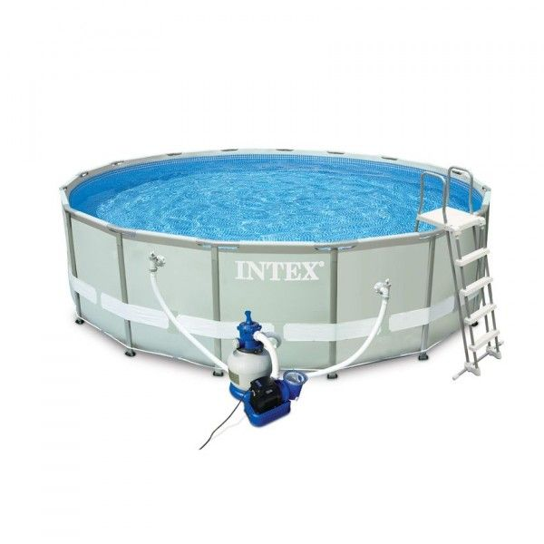 Piscine tubulaire ronde Intex Ultra Frame 4,88 x 1,22 m