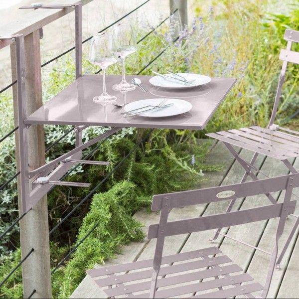 Table de jardin salon de jardin repas et detente eminza - Table de balcon rabattable ...