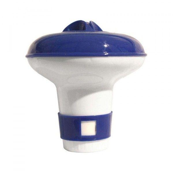 Diffuseur de chlore flottant petit format bleu piscine - Pastille chlore piscine gonflable ...