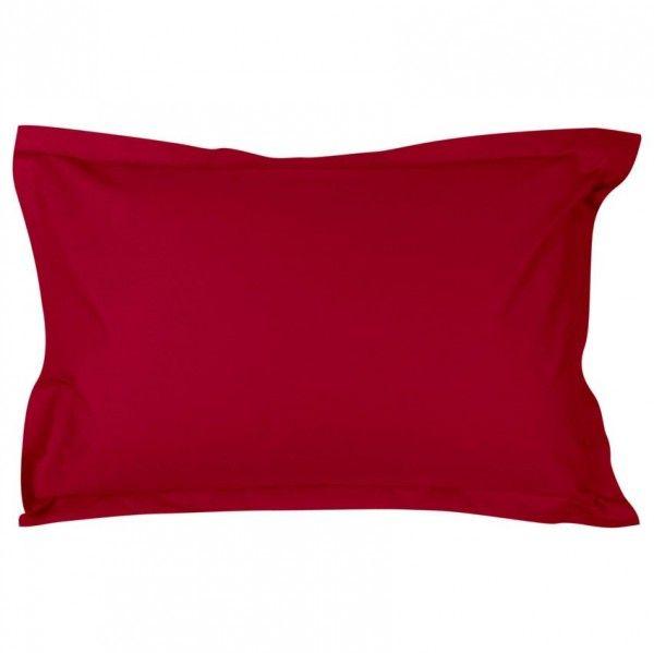 taie d 39 oreiller rectangulaire percale de coton temple rubis taie d 39 oreiller traversin eminza. Black Bedroom Furniture Sets. Home Design Ideas