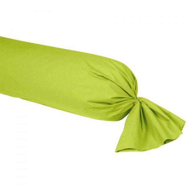 taie de traversin percale de coton l185 cm manoir anis taie d 39 oreiller traversin eminza. Black Bedroom Furniture Sets. Home Design Ideas