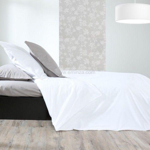 taie de traversin percale de coton l185 cm temple blanc taie d 39 oreiller traversin eminza. Black Bedroom Furniture Sets. Home Design Ideas