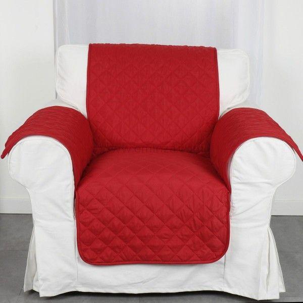 prot ge fauteuil club rouge housse de chaise et fauteuil eminza. Black Bedroom Furniture Sets. Home Design Ideas