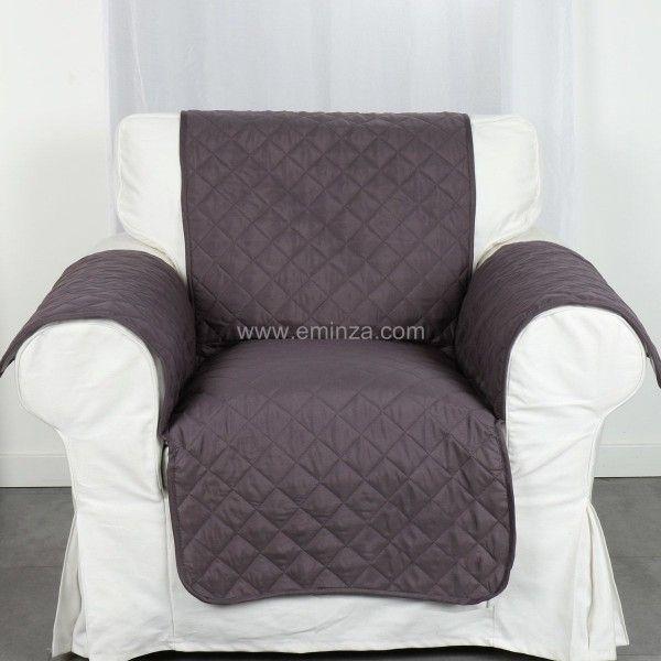 prot ge fauteuil club anthracite housse de chaise et. Black Bedroom Furniture Sets. Home Design Ideas