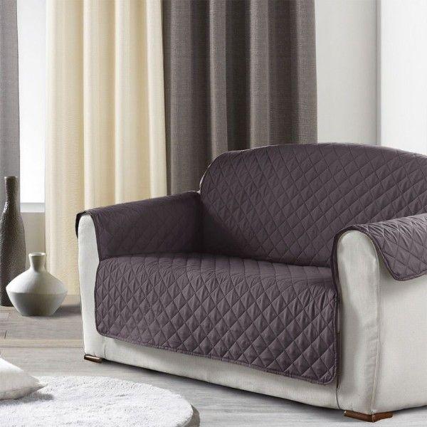 prot ge canap 3 places club anthracite housse de canap et clic clac eminza. Black Bedroom Furniture Sets. Home Design Ideas