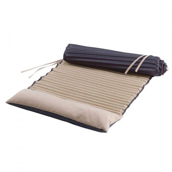 matelas roul garden duo taupe textile d 39 ext rieur eminza. Black Bedroom Furniture Sets. Home Design Ideas