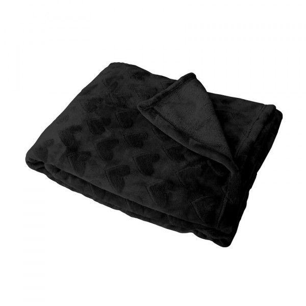 plaid polaire c ur flanelle noir plaid et jet s eminza. Black Bedroom Furniture Sets. Home Design Ideas