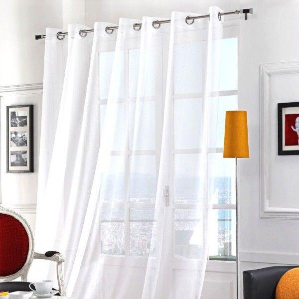 voilage 280 x 240 cm m moire blanc voilage eminza. Black Bedroom Furniture Sets. Home Design Ideas