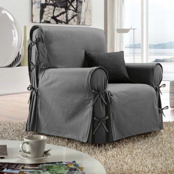 housse de fauteuil victoria gris housse de chaise et fauteuil eminza On housse de fauteuil gris