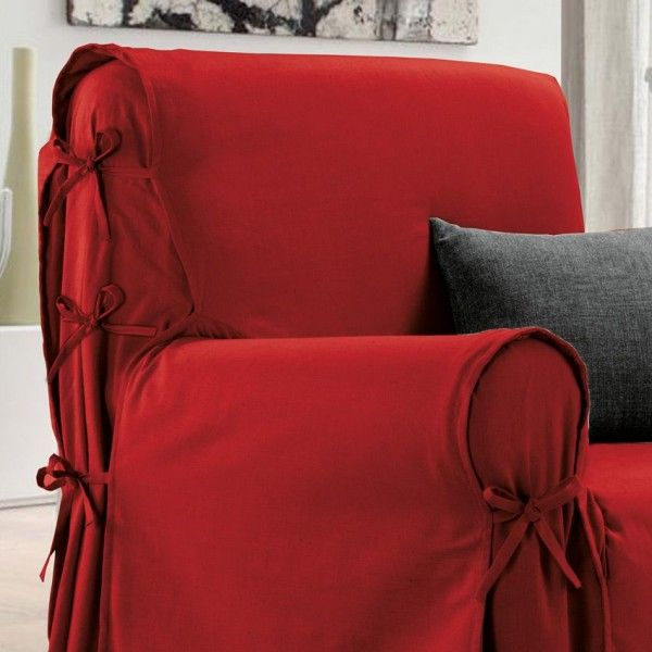 housse de fauteuil victoria rouge housse de chaise et fauteuil eminza. Black Bedroom Furniture Sets. Home Design Ideas