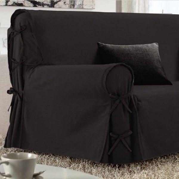 housse de canap 3 places victoria anthracite d co. Black Bedroom Furniture Sets. Home Design Ideas
