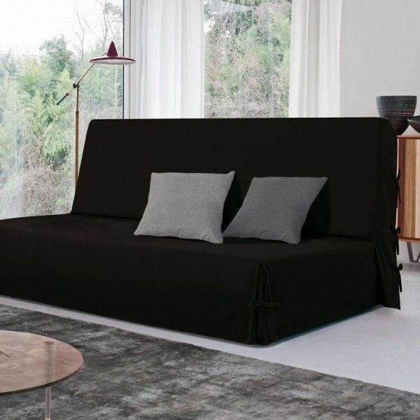 Housse de canap chaise noir eminza - Housse de clic clac noir ...