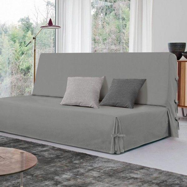 housse de clic clac victoria gris d co textile eminza. Black Bedroom Furniture Sets. Home Design Ideas