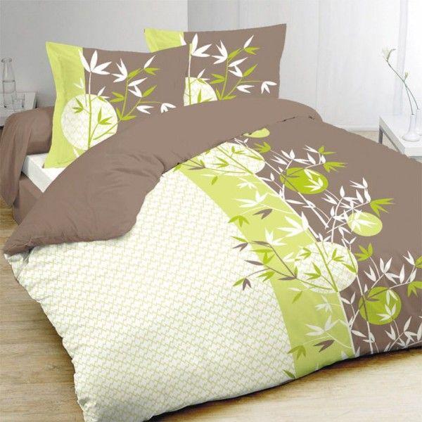 Housse de couette linge de lit eminza - Housse de couette vert ...