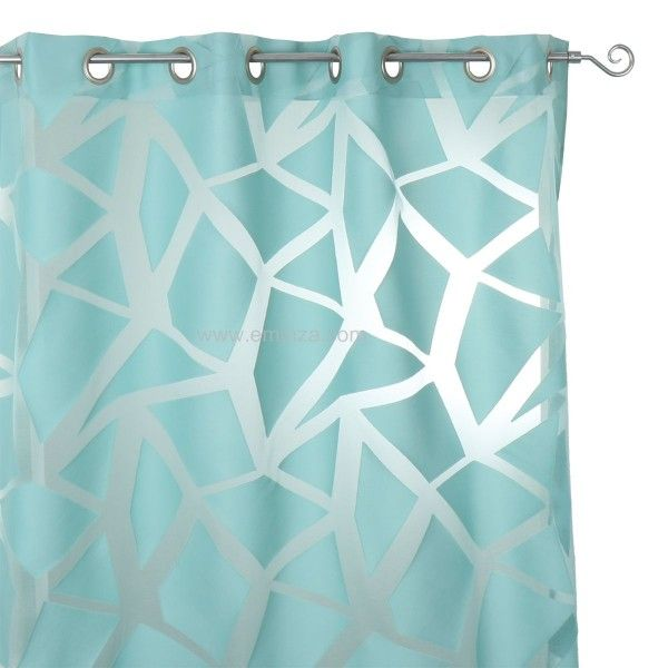 Voilage (140 x H245 cm) Eclats Turquoise