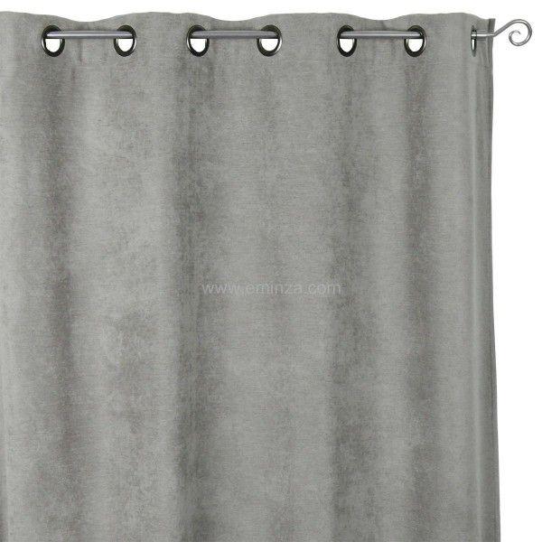 rideau occultant isolant 140 x h260 cm alaska gris. Black Bedroom Furniture Sets. Home Design Ideas
