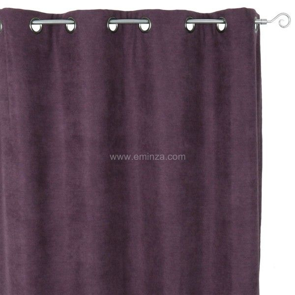 rideau occultant isolant 140 x h260 cm alaska aubergine rideau isolant eminza. Black Bedroom Furniture Sets. Home Design Ideas