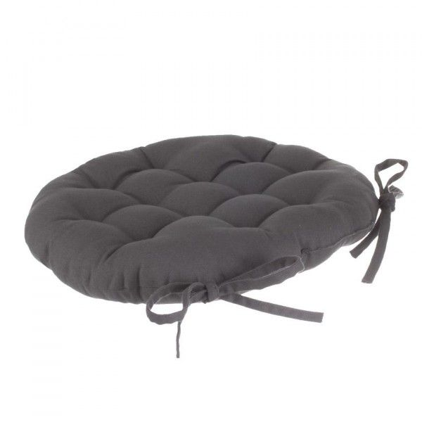 Coussin de chaise ronde Lina Anthracite