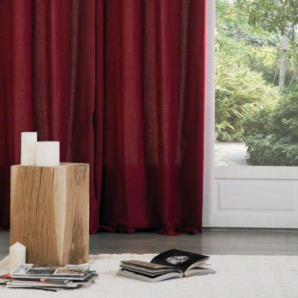 Paire de rideaux (135 x H240 cm) Lina Bordeaux
