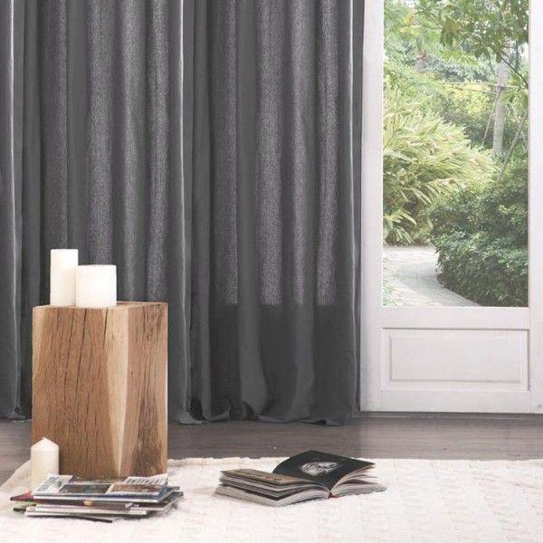 eminza soldes voilage x h cm bully rouge with eminza. Black Bedroom Furniture Sets. Home Design Ideas
