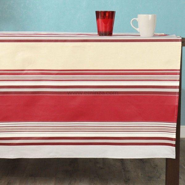 nappe de table rectangulaire l300 cm linge de table eminza. Black Bedroom Furniture Sets. Home Design Ideas