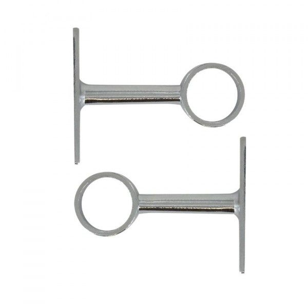 Lot de 2 supports simples  Chrome