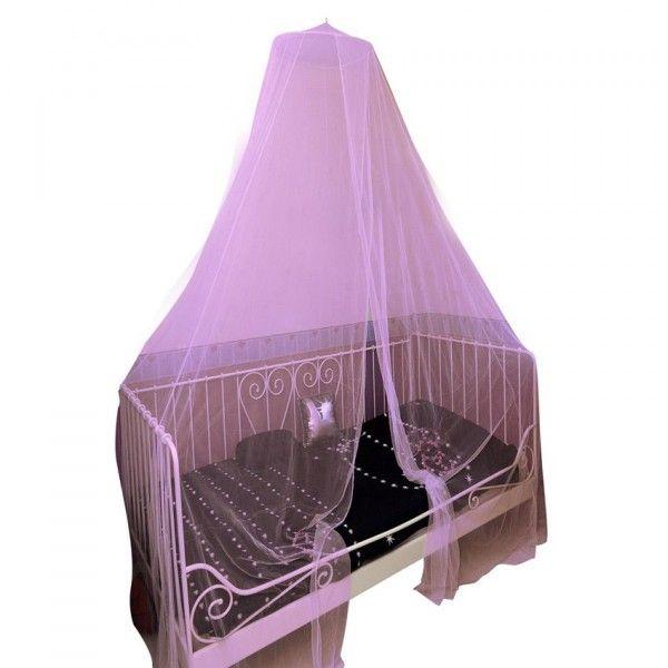 ciel de lit moustiquaire d40 cm rose ciel de lit eminza. Black Bedroom Furniture Sets. Home Design Ideas