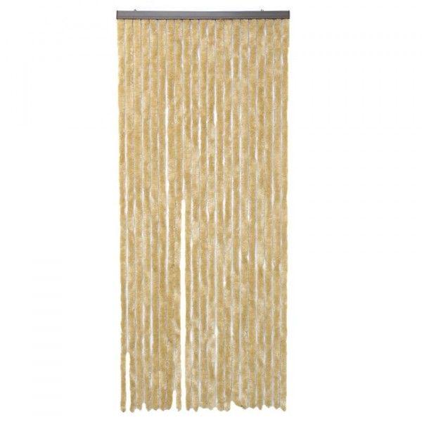 rideau de porte 120 x h220 cm chenille beige rideau voilage store eminza. Black Bedroom Furniture Sets. Home Design Ideas