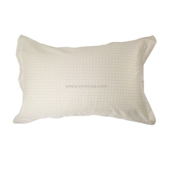 taie d 39 oreiller rectangulaire satin de coton wesley ecru taie d 39 oreiller traversin eminza. Black Bedroom Furniture Sets. Home Design Ideas